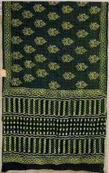 Indigo Green Cotton Saree