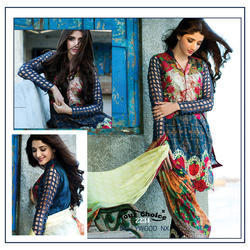 Salwar Kameez Cotton With Embroidery