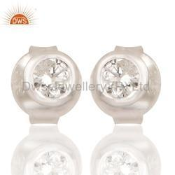 Natural Diamond Stud Earrings Jewelry