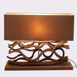 Le Sculpture Beige Wooden Table Lamp