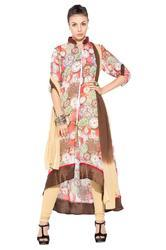 Designer Suits Printed Party Wear Long Kurti
