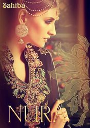 Georgette Embroidery Hand Work Suit