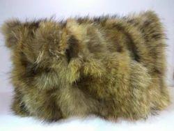 Wolf Faux Fur Cushion