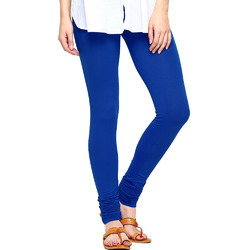 royal blue v cut churidar rubygold cotton leggings