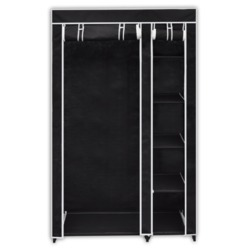 Folding Wardrobe - 110 Cm - Black