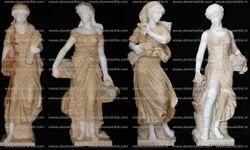 Onex Marble Four Season Lady Statues
