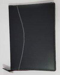 Faux Leather Portfolio Zip Bag