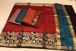 Banrasi Weaving Kora Silk Saree