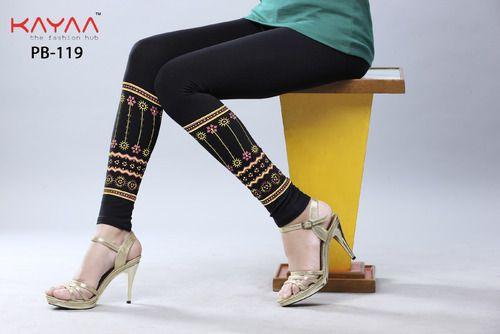 Black Bottom Printed Leggings