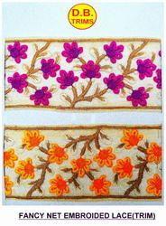 Designer Net Embroidered Lace (Trim)