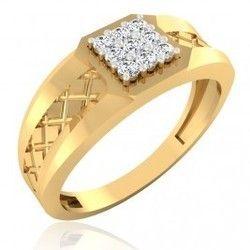 The Camelia Diamond Mens Ring