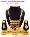 Traditional Kundan Necklace Set With Vilandi Kundan Strings