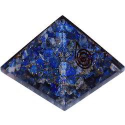 7cm Base Length Orgone Pyramid for Vishudh Chakra