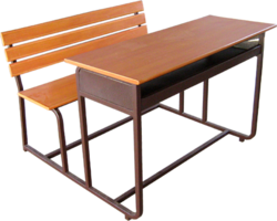 Plywood Desk with Bench - with Joint