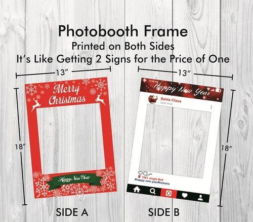 Photo Booth Props - Baby Shower Party Photo Booth Props Wooden Frame ...