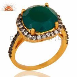 Handmade Green Onyx Gemstone Fashion Ring