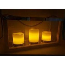 Designer Frame with Flickering LED Candle Set of 3