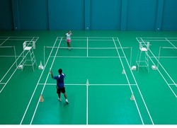 Badminton Center Court Flooring