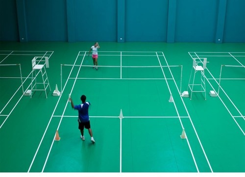 Indoor badminton court images for How much does it cost to build a sport court
