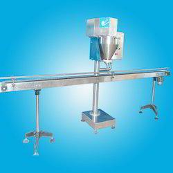 Powder Filling Machine with Conveyor