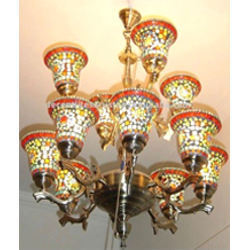12 Arm Double Step Glass Chandeliers