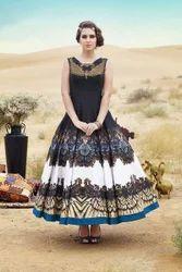 Bhagalpuri Designer Party Wear Gown