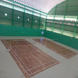 Badminton flooring laminated badminton flooring for Sport court cost per square foot