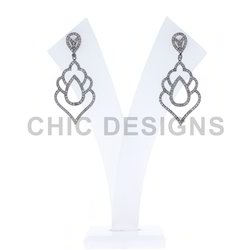 Diamond Pave Fashion Earrings