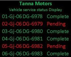 Automobile Service Station LED Display Board