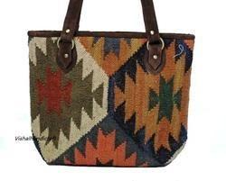 Wool Jute Shoulder Bag