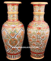 stone gold painting flower vase