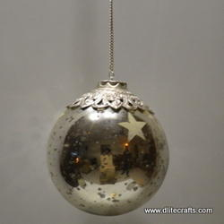 Siver Ball Hanging Lamps