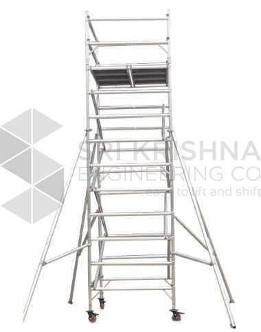 Mobile Tower Scaffold Double Width Without Stairway