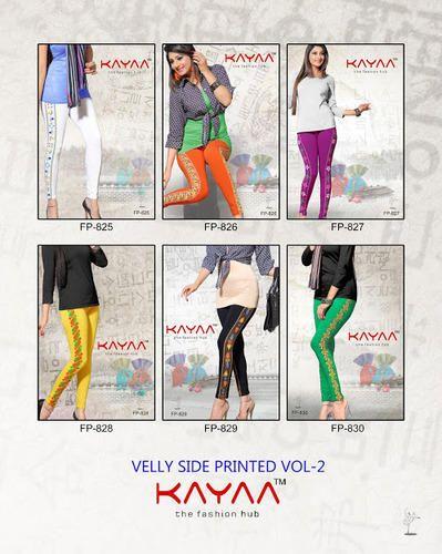 New Arrival Fancy Velly Side Printed Legging