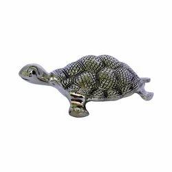 White Metal Tortoise Toy