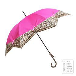 Solid Color with Leopard Design Fashion Umbrella