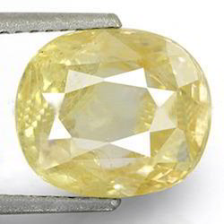 5.67 Carats Yellow Sapphire