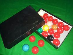 Super Crystalate Snooker Ball Set
