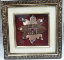 Pure Copper Navgrah Lotus Swastik