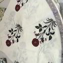 Red Hibiscus Pattern Block Print Table Cloth