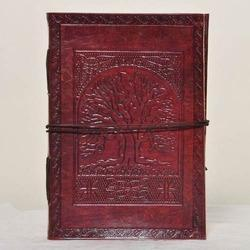 Junkyard Leather Journal Diary With Handmade Paper- Treeky