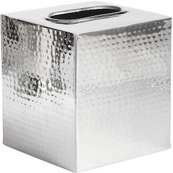 Cube Tissue Box Holder (Hammered)