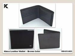 Khisa Leather Wallet Brown Color