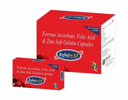 Ferrous Ascorbate, Folic Acid & Zinc Softgelatin Capsule
