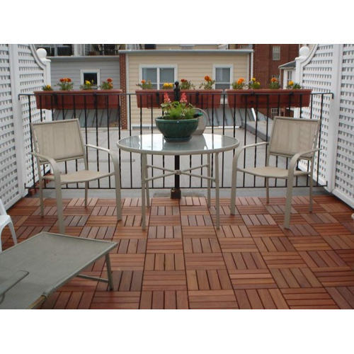 Natural Wood Deck Tiles