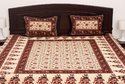Cotton Jaipuri Double Bed Sheet with 2 Pillow Cover