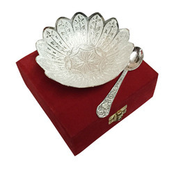 Silver Gold Plated Bowl Set