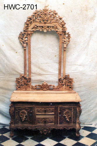Wooden Handicrafts Hc Dressing Table Exporter From Saharanpur
