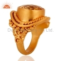 Citrine Gemstone Designer Ring