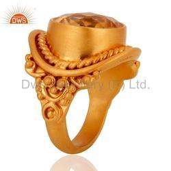Citrine Gemstone Designer Ring